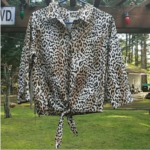 Chico's Leopard Buttoned Up Blouse - Size 2